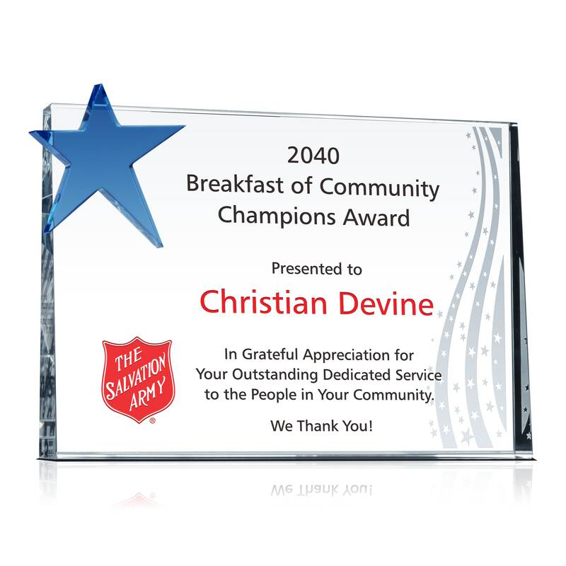 community champions award plaque