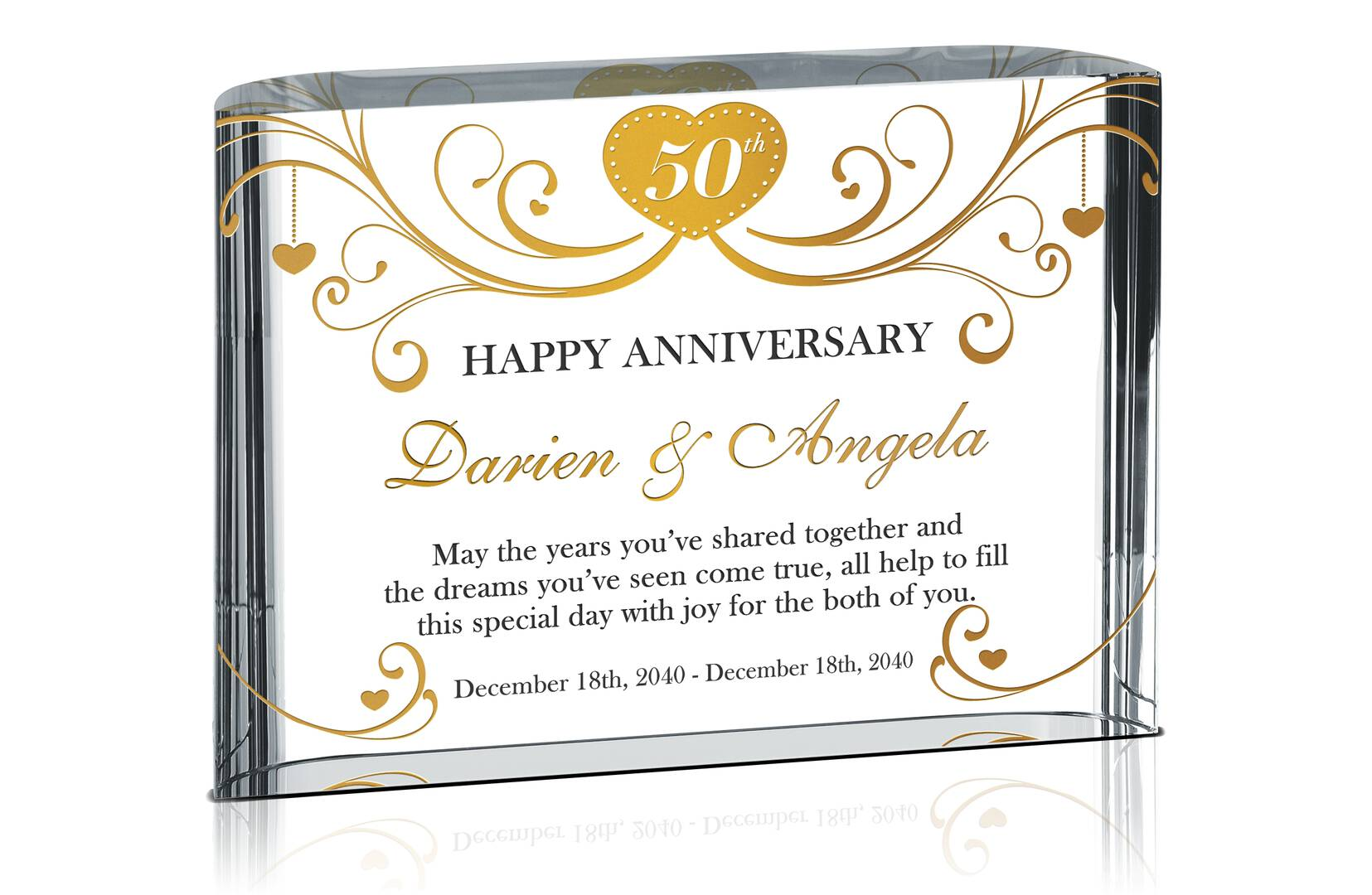 Happy 50th Anniversary Gift For Couple Parents Crystal