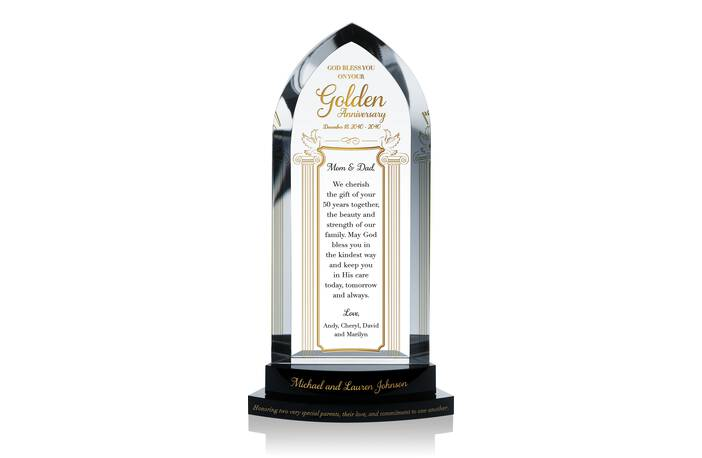 Golden Wedding Anniversary Gift Crystal Central
