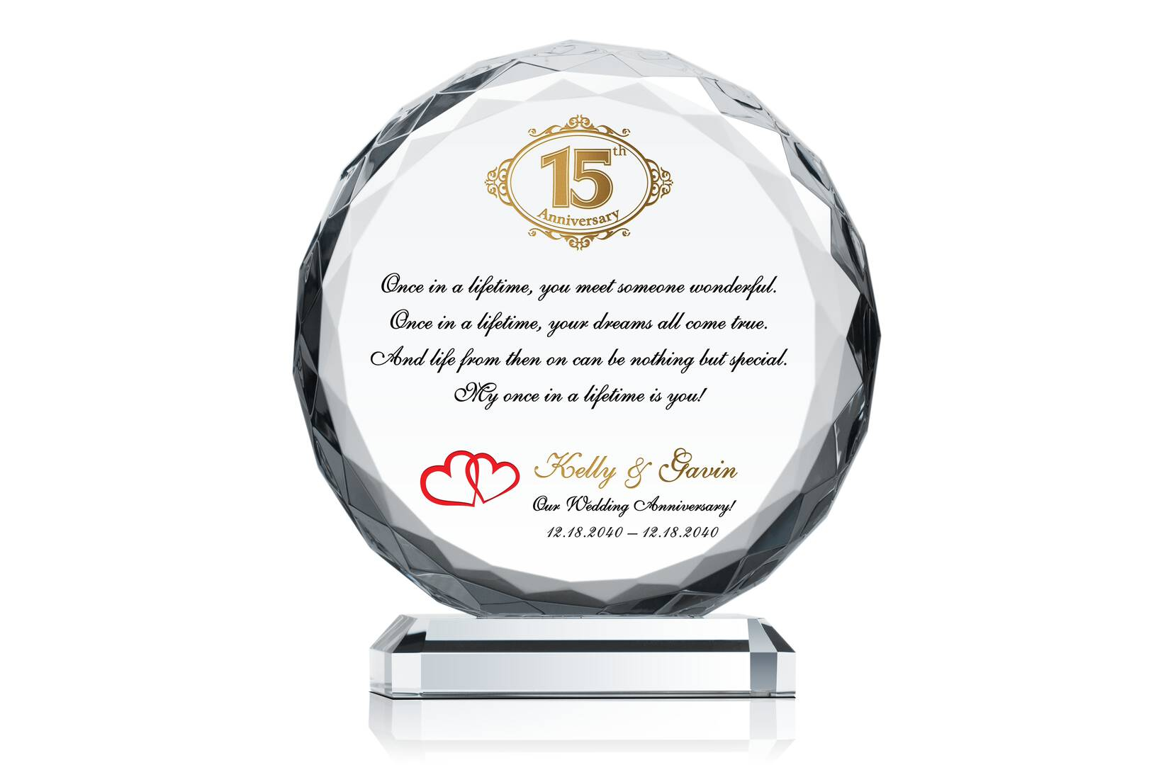 15th Wedding Anniversary Gift Ideas For Wife: Crystal Anniversary Gift