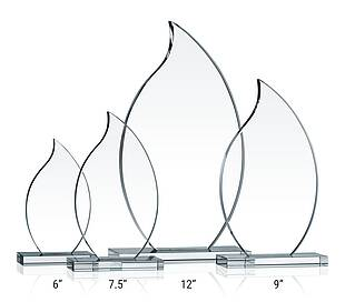 Crystal Flame Award Plaques