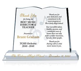 Book Appreciation Gift Plaques