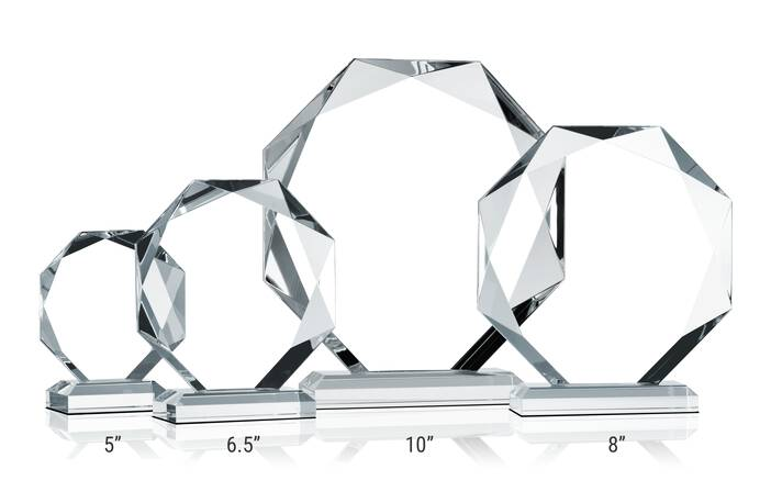 Crystal Octagon Award Plaques