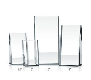 Crystal Wedge Award Plaques