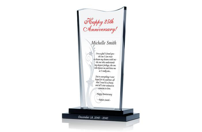 Crystal Wedding Anniversary Gifts For Her: Silver Wedding Anniversary Gifts