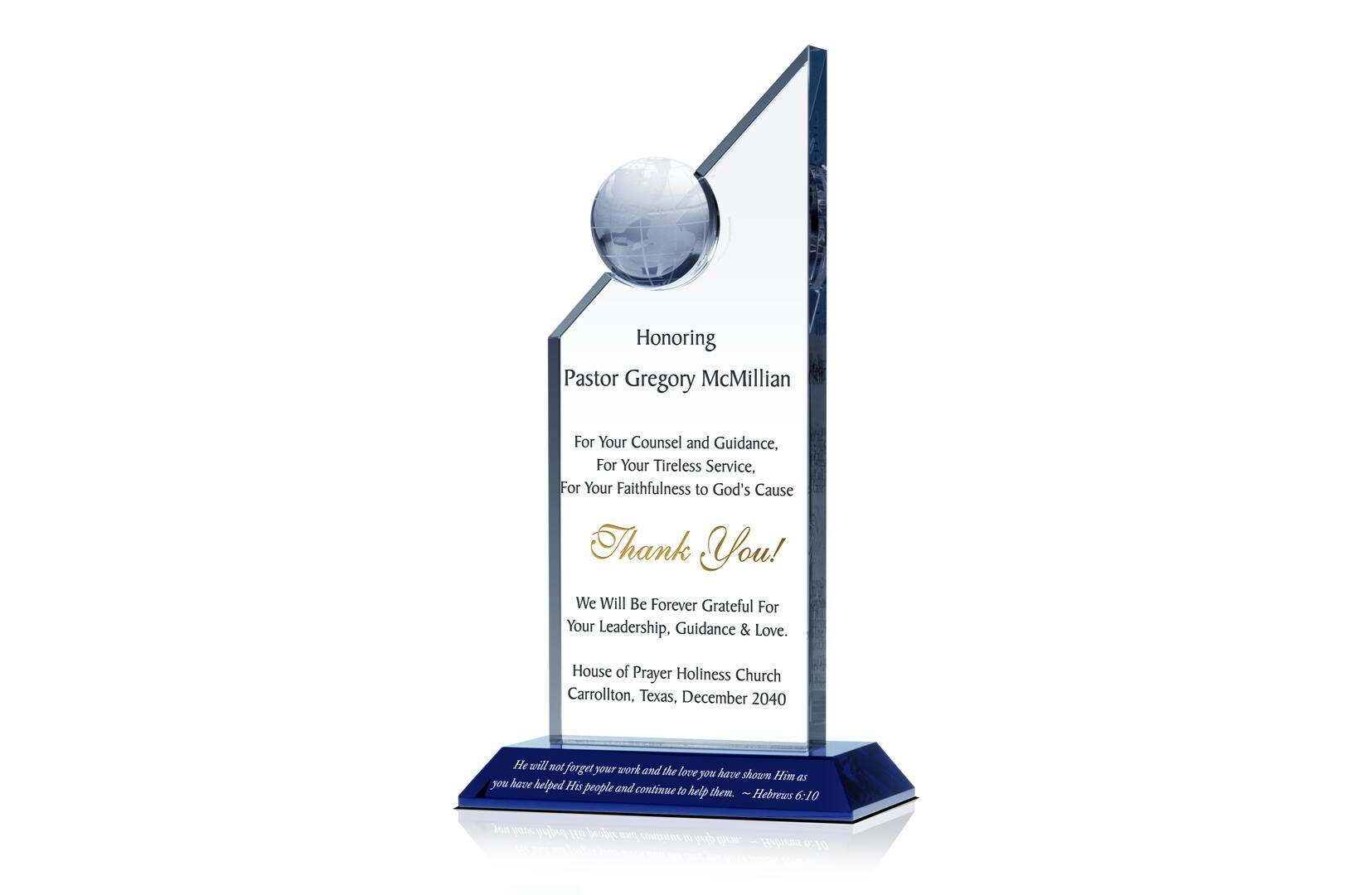 Apex Thank You Gift Plaque