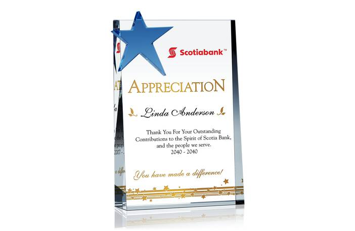 Star Employee/Staff Appreciation Plaque