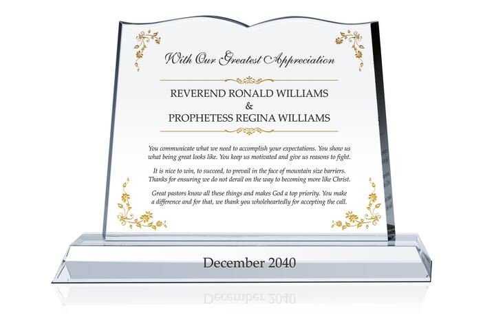 Crystal Bible Gift for Reverend