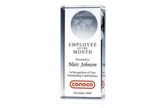 Employee of the Month Globe Pillar