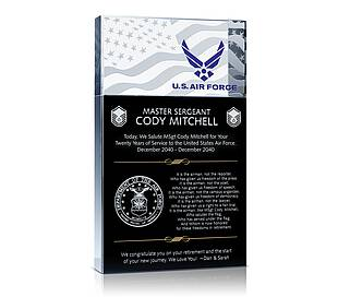 Military Retirement Plaques