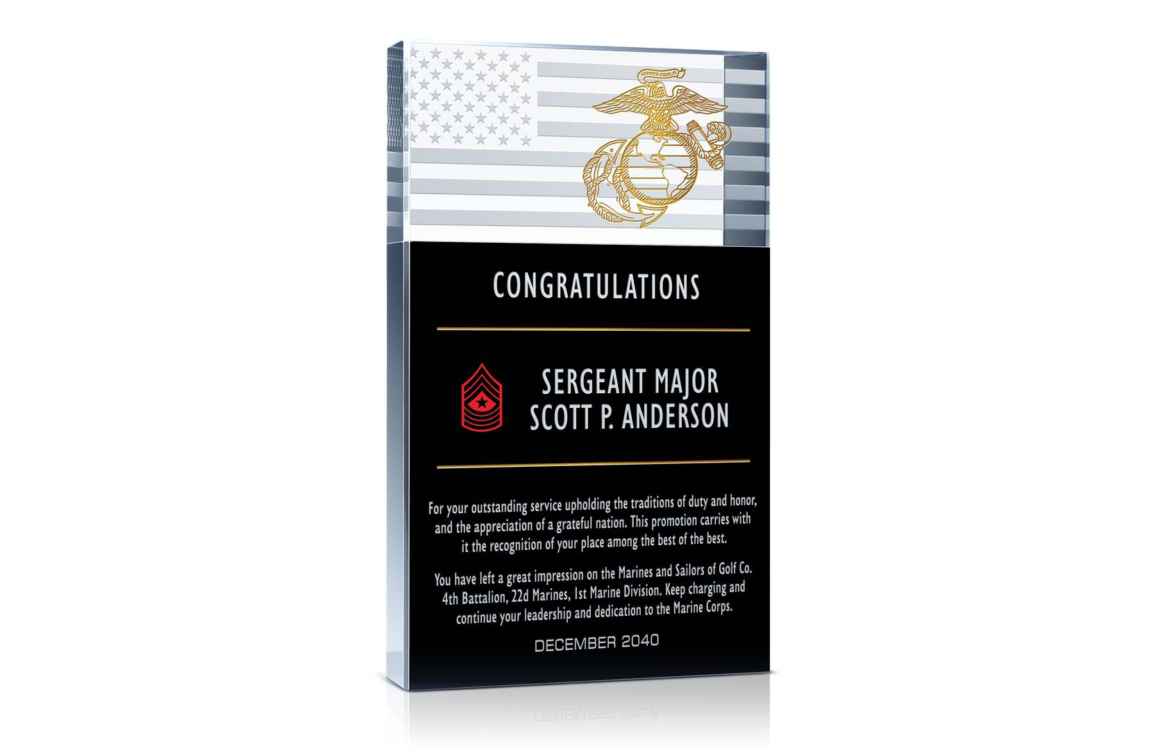 Military Promotion Gift Plaques