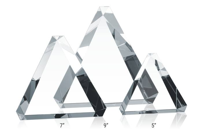 Crystal Triangle Award Plaques