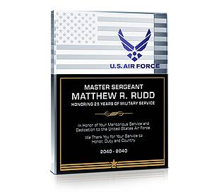 USAF Recognition Gift Plaque