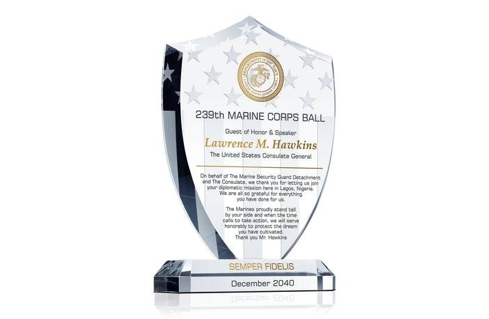 Marine Corps Ball Guest of Honor Award