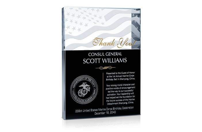 Gift for USMC Birthday Ball Guest of Honor