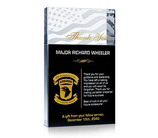 Thank You Airman! Plaque