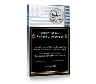 Army Recognition Gift Plaque