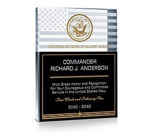 Navy Recognition Gift Plaque