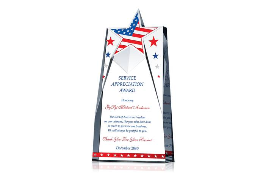 Patriotic Appreciation Gift Plaques Crystal Central
