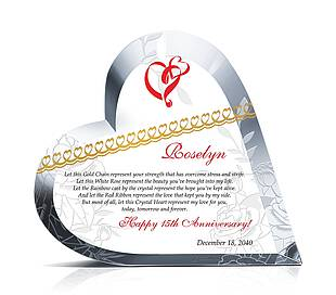 Crystal Heart Love Gifts