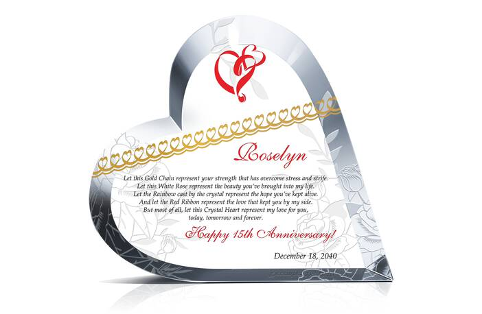 Home » Wedding Anniversaries » Crystal Heart Love Gifts