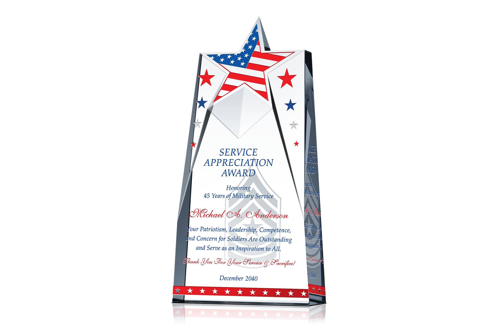 Military Service Appreciation Plaque