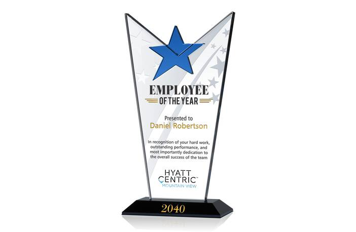 star employee of the month award   crystal central