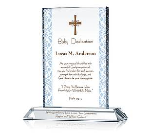 Baby Dedication Plaque
