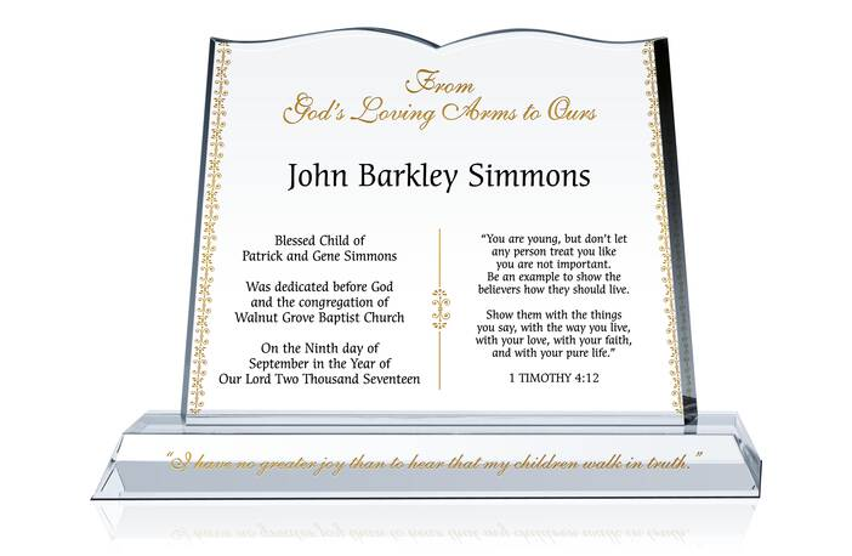Superb Bible Dedication Certificate