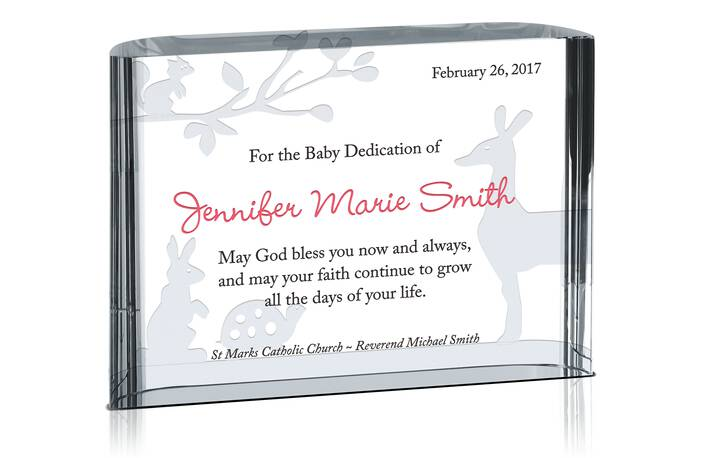 blessings on dedication gift plaque