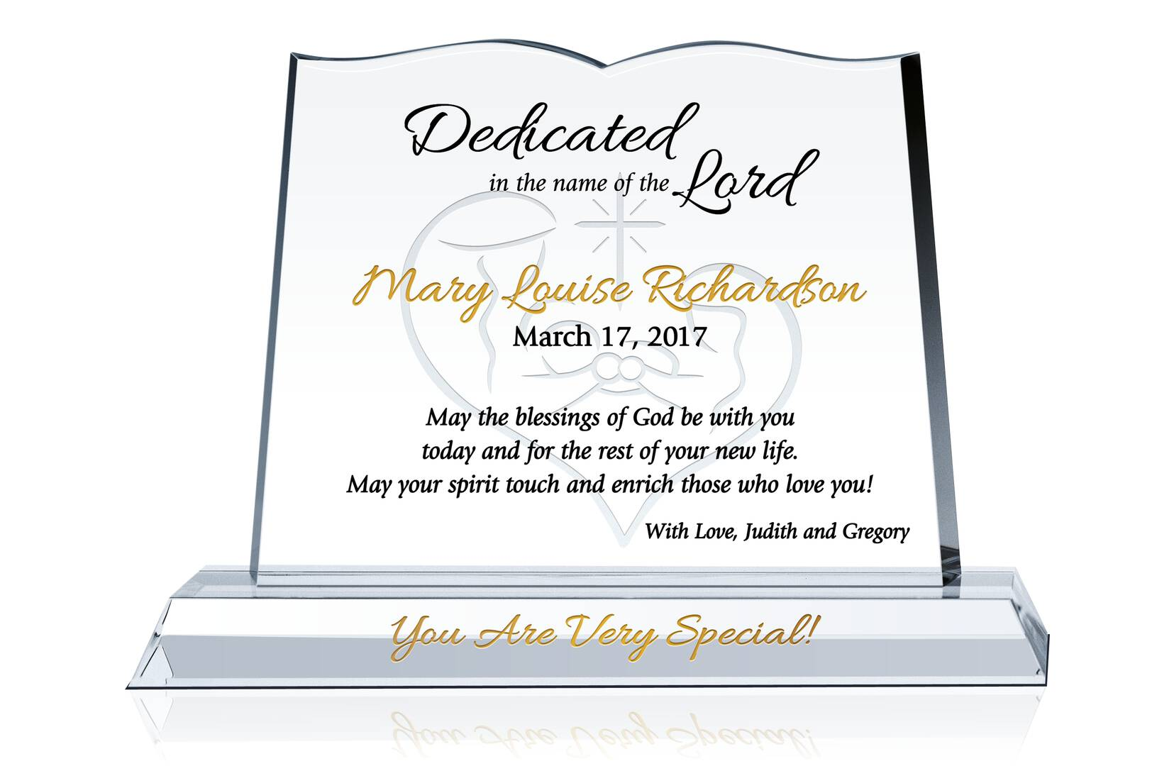 Crystal Bible Baby Dedication Plaque Crystal Central