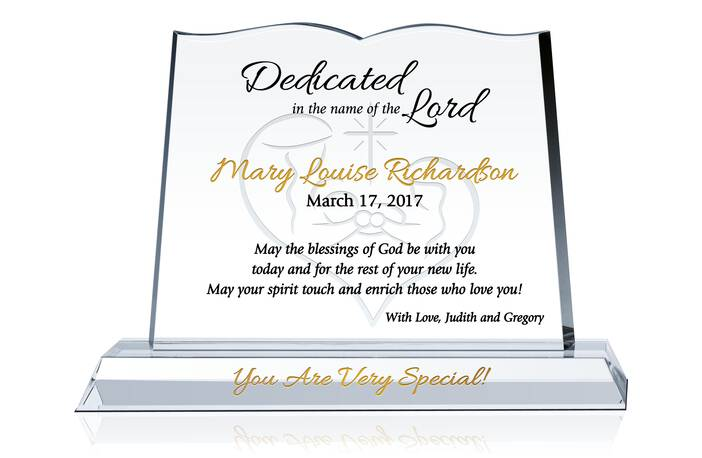 ... Christian Gifts » Baby Dedication Gifts » Bible Dedication Plaque
