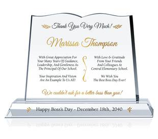 Thank You Boss Plaque