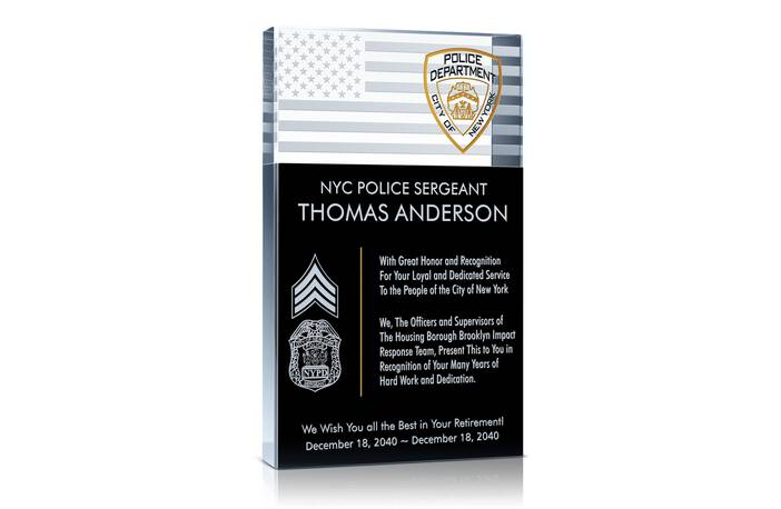 Home » Police Sheriff Plaques » Police Retirement Plaque