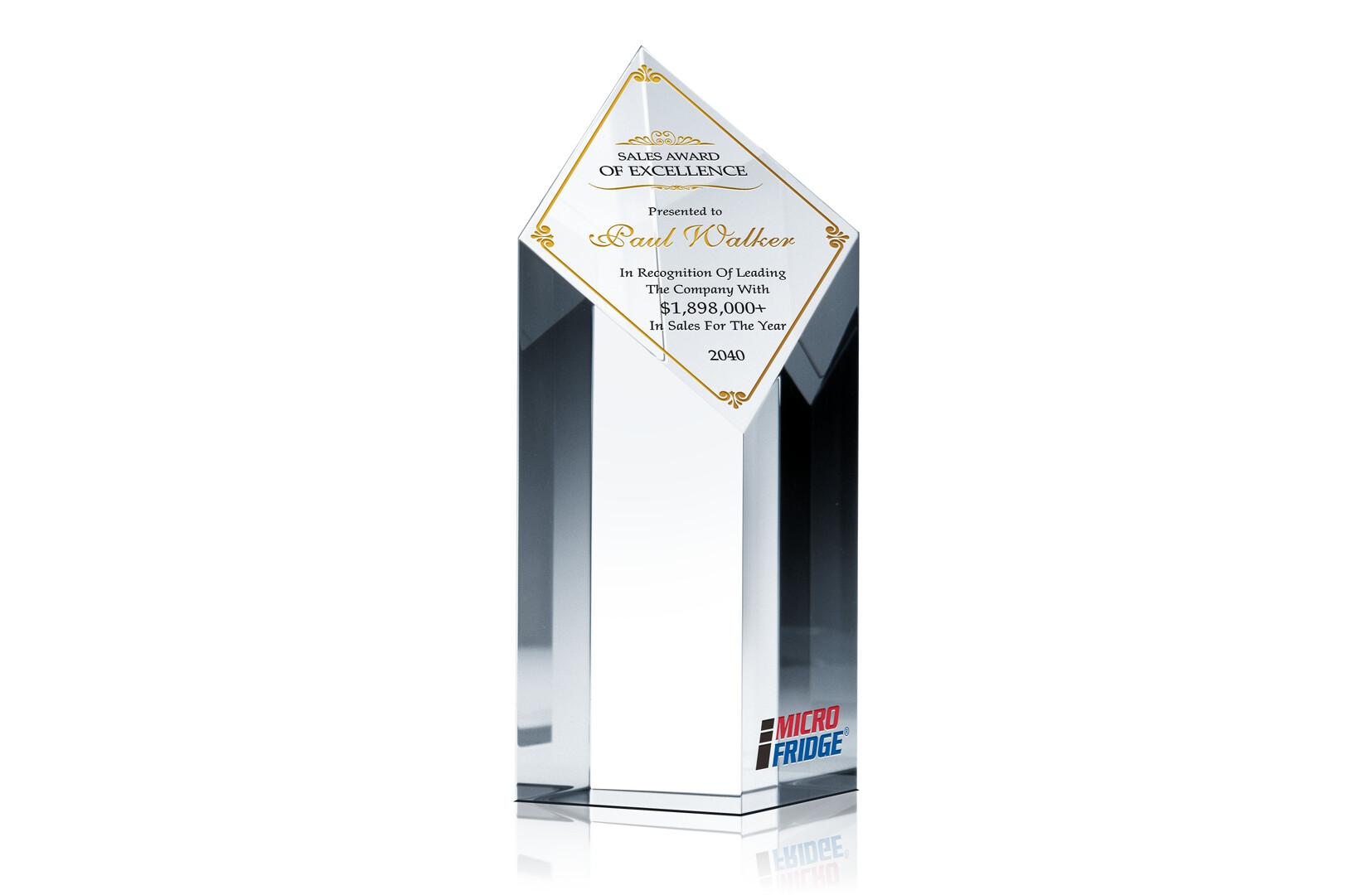 Diamond Sales Excellence Award Crystal Central
