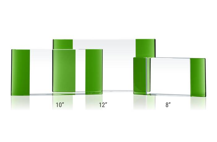 Home Crystal Awards Elliptic Plaques Green