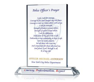 Policeman's Prayer Plaque