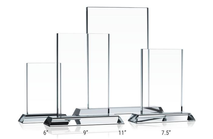 Clear Rectangle Award Plaques