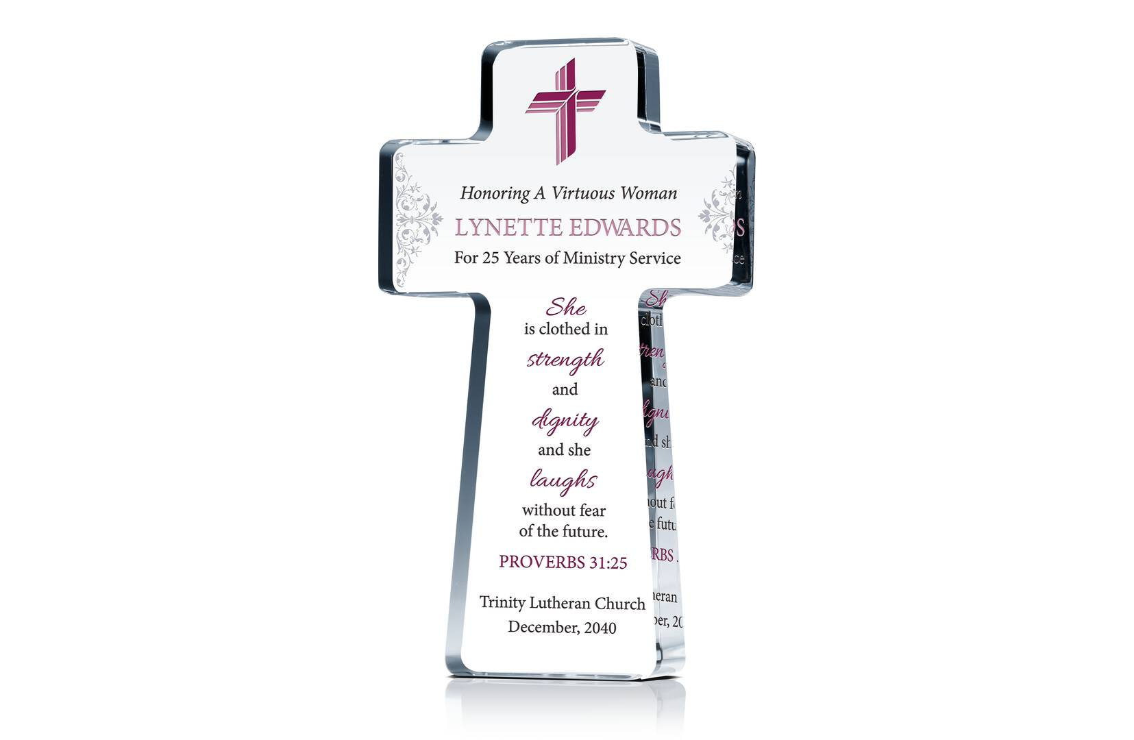 Pastors Wife Anniversary Cross