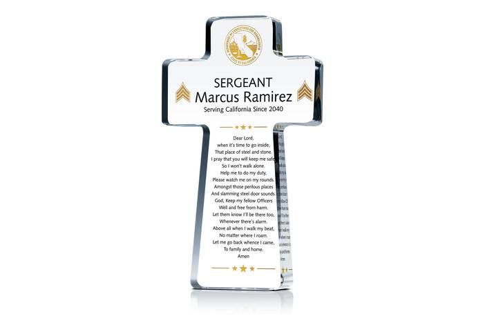 Correction Officer Prayer Gift Plaque
