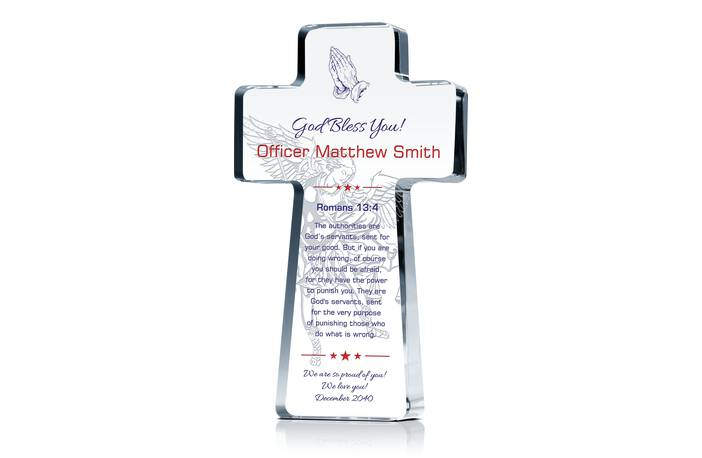 Christian Prayers Gift Plaque for Police Officer