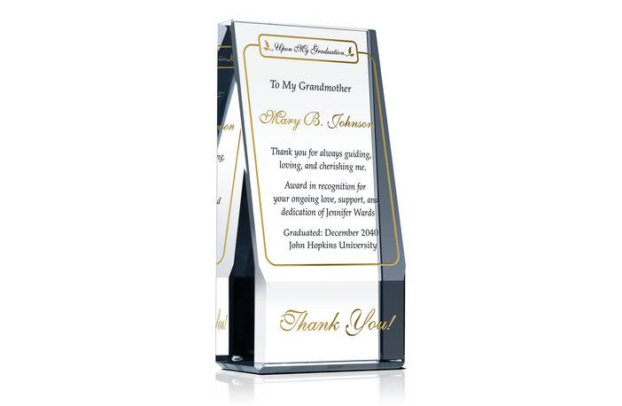 Graduation Appreciation Plaque for Parents