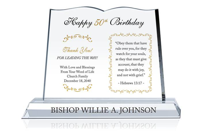 50th Birthday Gift for Pastor