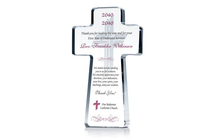 Pastor 1 Year Anniversary Recognition Plaque