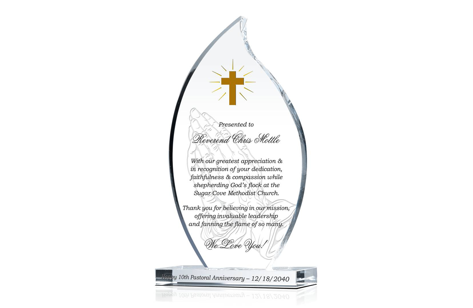 Pastor 10th Anniversary Gift Plaque