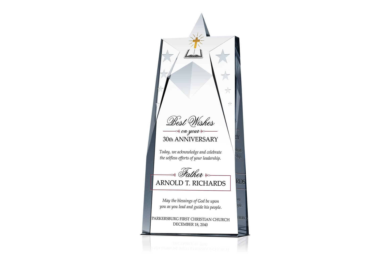 Pastoral Anniversary Gift Plaque Crystal Central