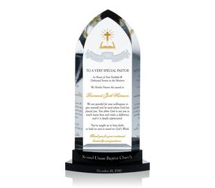 40th Pastoral Anniversary Gift Plaque