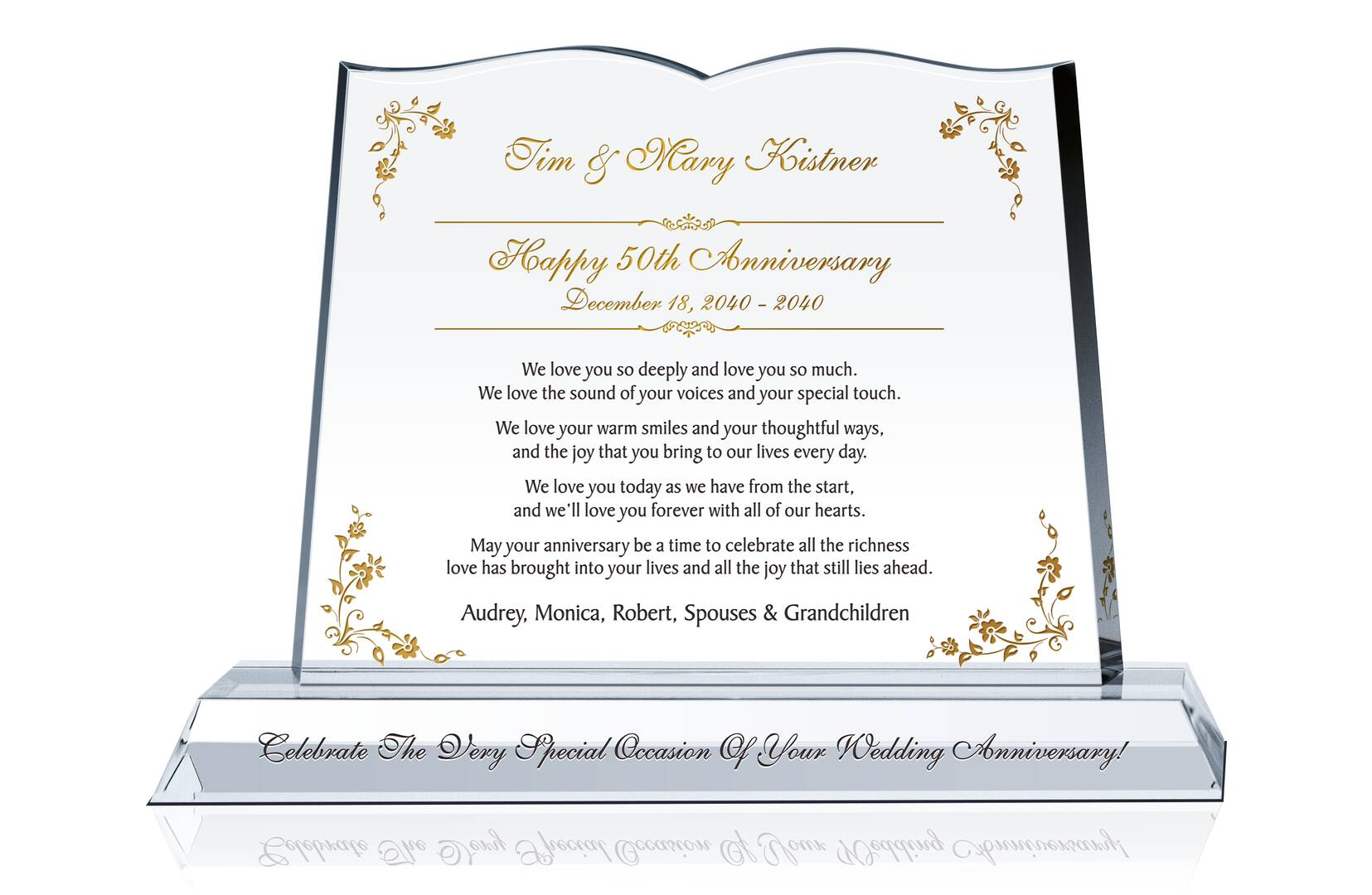 Wedding Anniversary Gifts For Couples: 50th Wedding Anniversary Gift For Couple