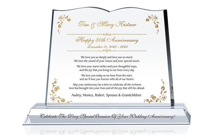Crystal Wedding Anniversary Gifts For Her: 50th Wedding Anniversary Gift For Couple