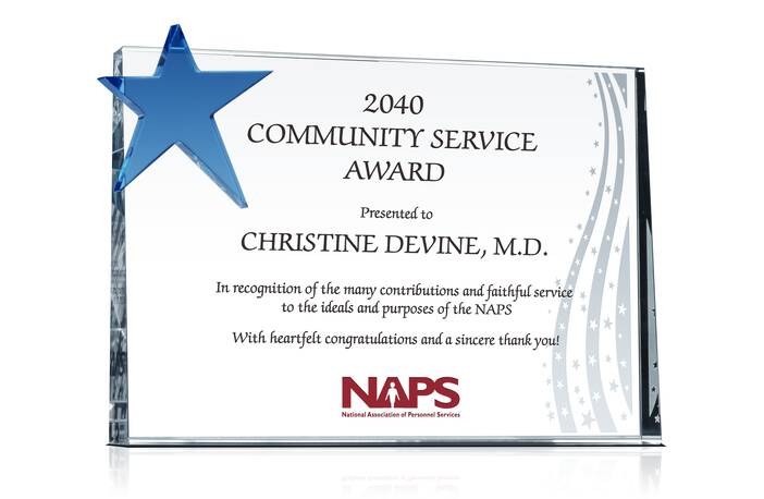 plaque of appreciation template - community service award plaque crystal central